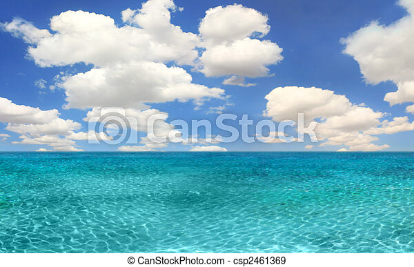 Ocean Beach Scene on a Bright Day - csp2461369