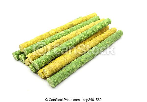Dog chew rawhide treats - csp2461562