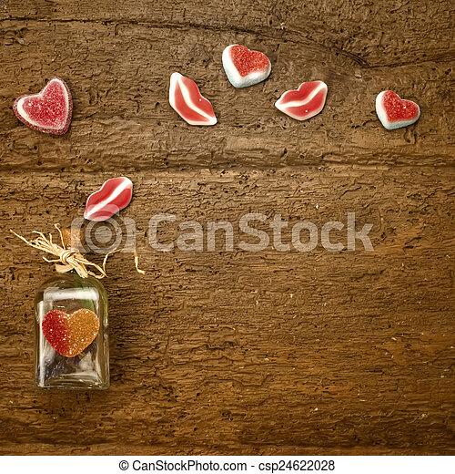 Valentines day card - csp24622028