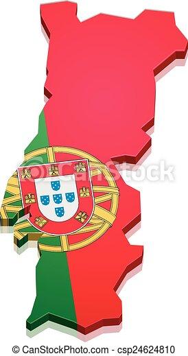 Clip art vecteur de carte portugal d taill - Dessin portugal ...