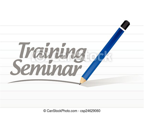Clip Art Vector of training seminar message illustration ...