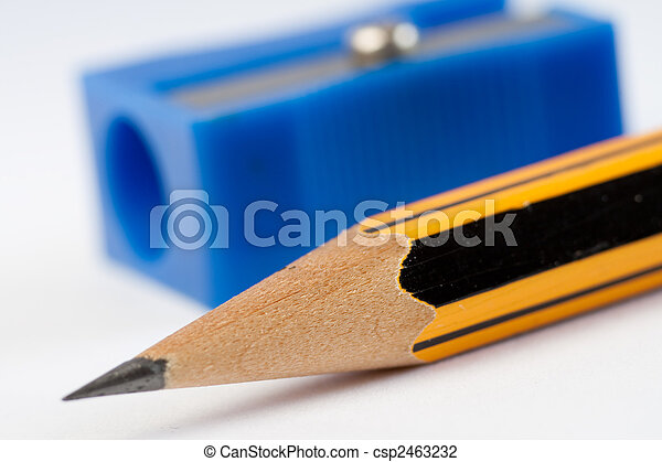 Sharp pencil and pencil sharpener - csp2463232