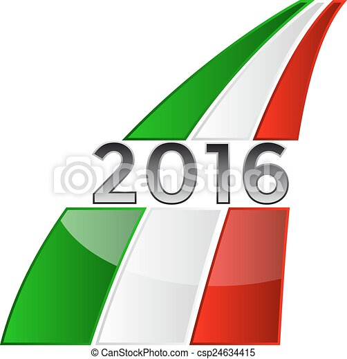 Vector Clip Art of Happy New Year 2016 with the Italian flag ...