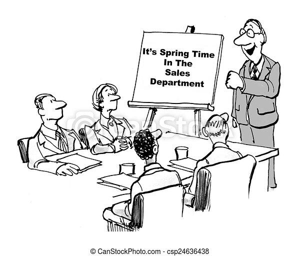 Sales department clipart