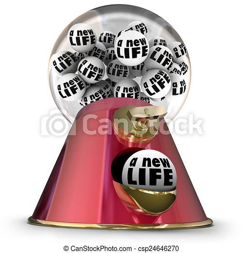 Stock Illustration of Random Chance Luck Gumball Machine Dispenser ...