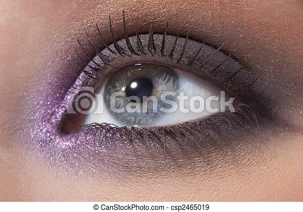 Beautiful female eye in a fashionable make-up - csp2465019