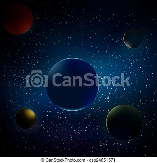 planets in space - csp24651571