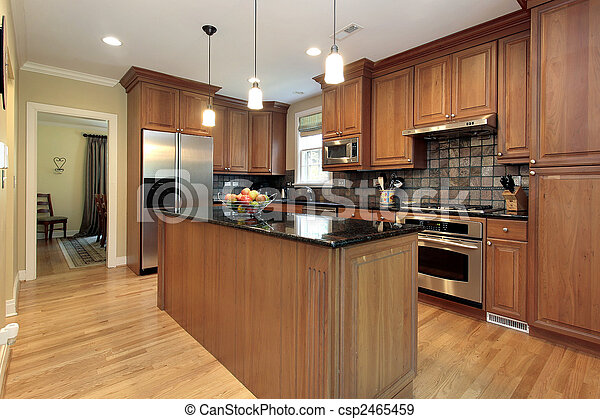 Kitchen in new construction home - csp2465459