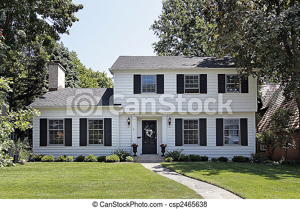 White suburban home - csp2465638