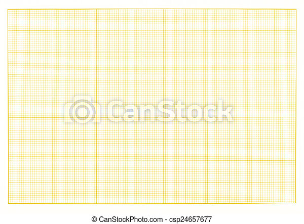 Blank millimeter grid yellow paper sheet background or textured.