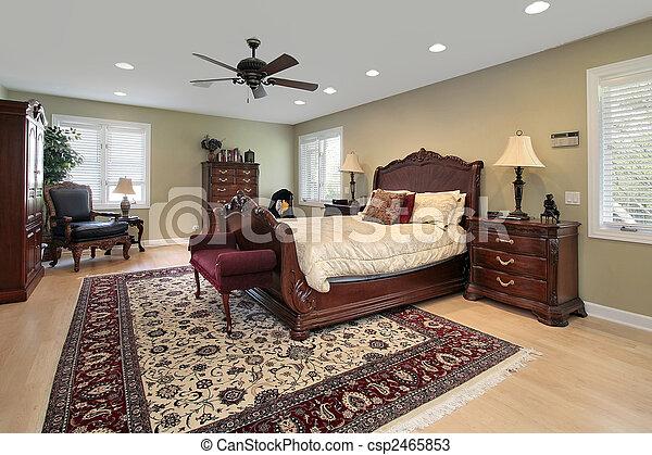 Master bedroom in luxury home - csp2465853