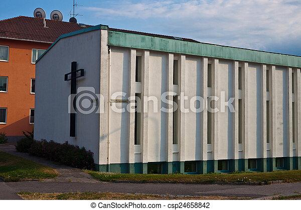Modern church in Nykoping