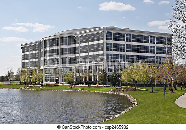 Office building with lake - csp2465932