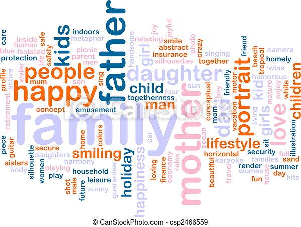 palabra, familia , nube - csp2466559