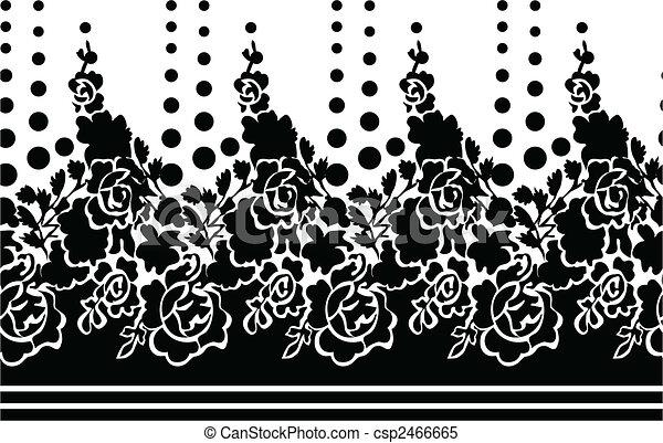 seamless flower rose wallpaper - csp2466665