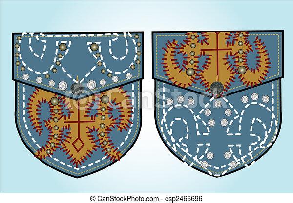 rhinestones and studs design - csp2466696