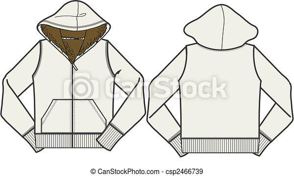 lady fashion fleece jacket - csp2466739
