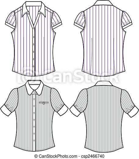 lady fashion formal stripe blouse - csp2466740