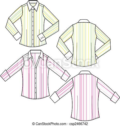lady fashion formal stripe blouse - csp2466742