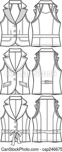 lady formal vest jacket - csp2466756