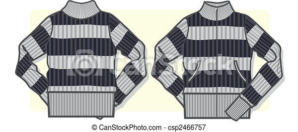lady zip-up sweater - csp2466757