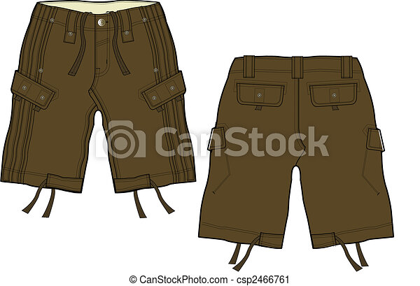 men fashion cargo shorts - csp2466761