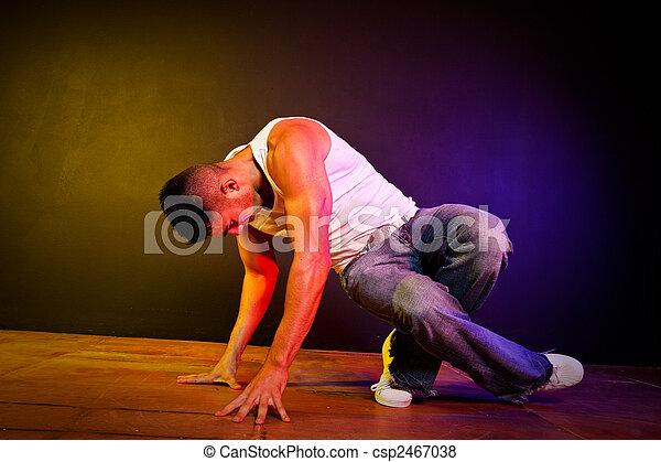 Hispanic male hip-hop dancing