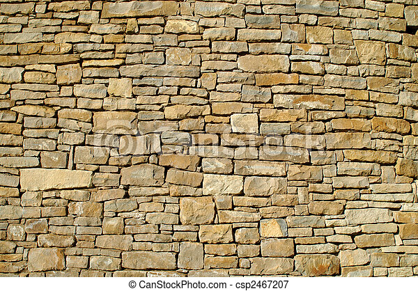 very old stonewall in the republik of ireland  - csp2467207