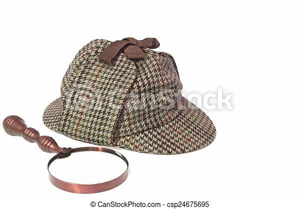 Stock Photographs of Deerstalker Hat and Retro Magnifying ...