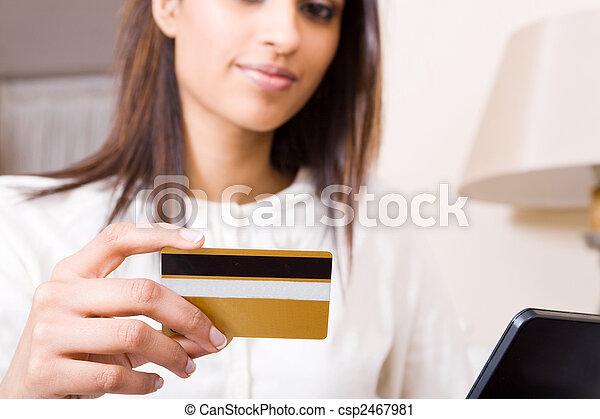 online banking woman - csp2467981