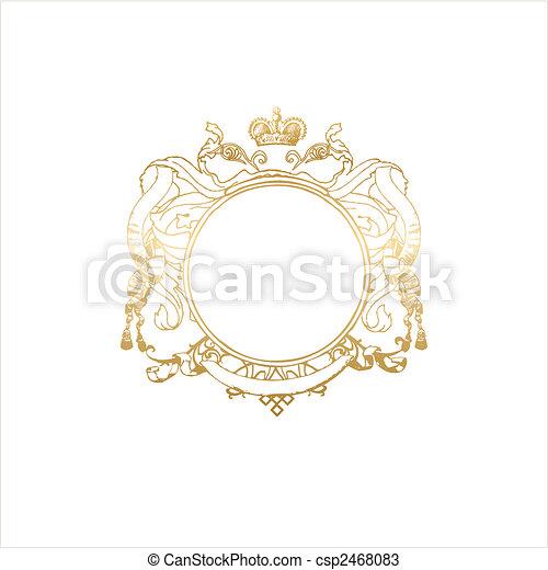 heraldic titling frame - csp2468083