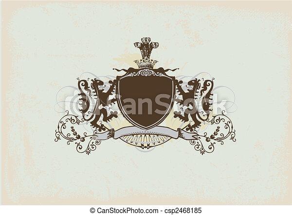 heraldic shield - csp2468185