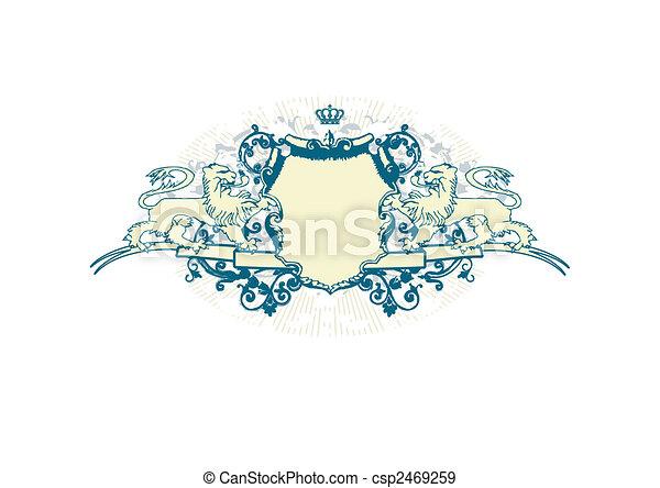 heraldic shield - csp2469259