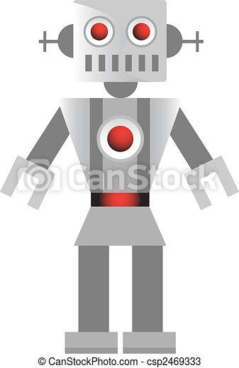 Grey Robot - csp2469333