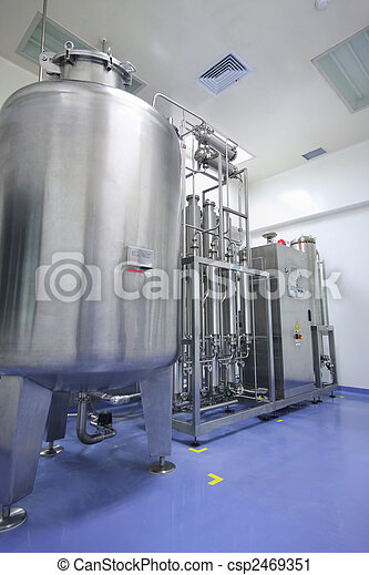vatten, destillator, fabrik - csp2469351