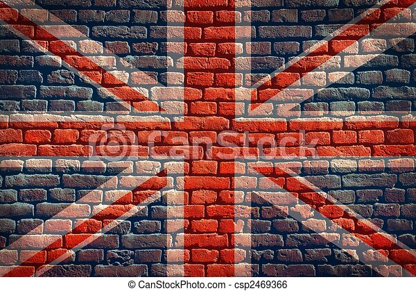 Union Jack flag background - csp2469366