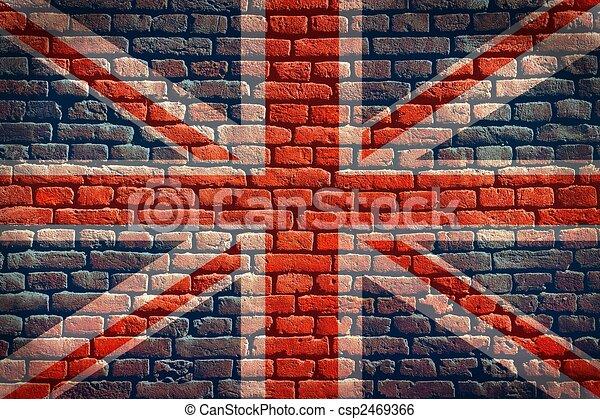 Union Jack flag background - csp2469366