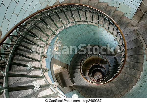 snail lighthouse staircase - csp2469367