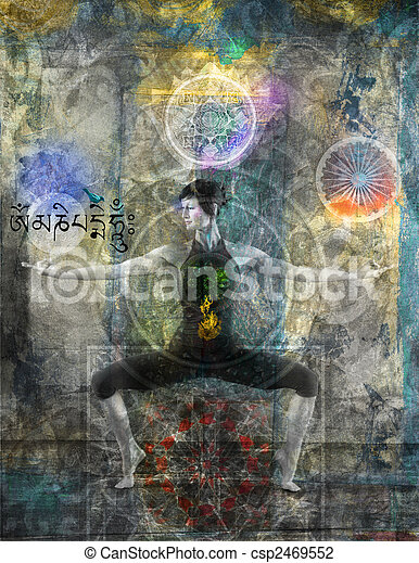 Balancing The Chakras - csp2469552