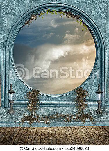 fantasie, landschaftsbild - csp24696828
