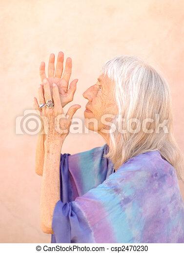 Senior Woman Devotion - csp2470230