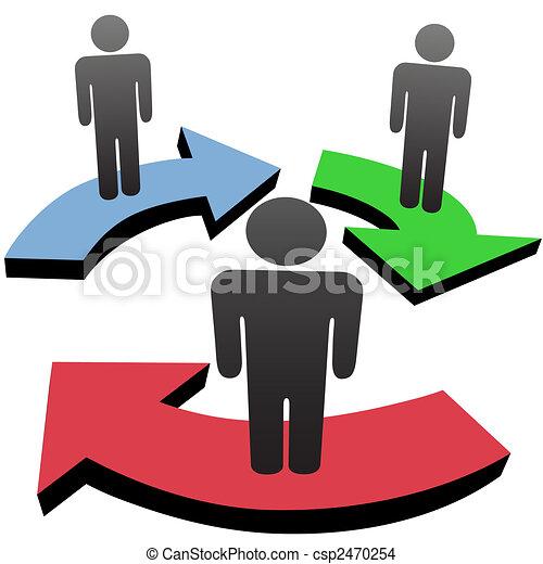 People communicate in team workflow network arrows - csp2470254