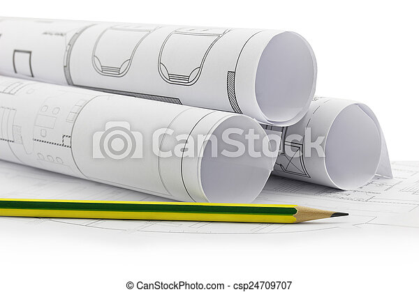 Photographies de crayon plans rouleaux construction for Plans et dessins de construction