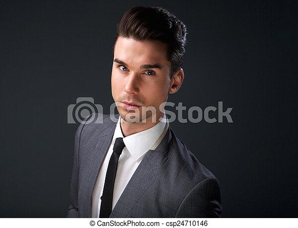 Photo - fin, haut, portrait, moderne, jeune, business, homme - image