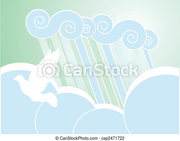 Soft Peace Rain Background - csp2471722