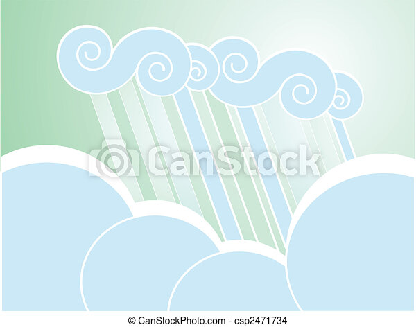 Soft Rain Cloud Background - csp2471734