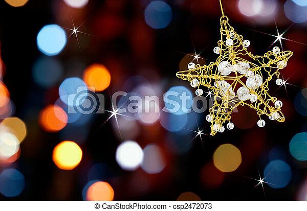 ライト, 星, クリスマス - csp2472073
