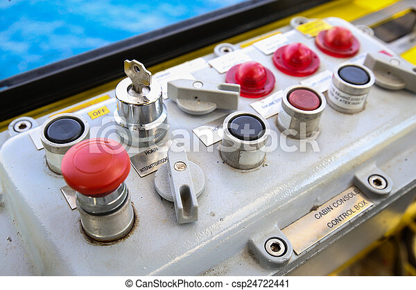 Control panel for control