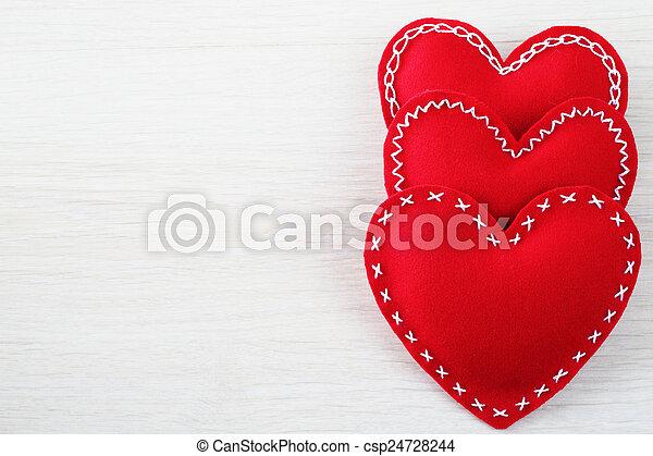 corações,  valentines, Dia - csp24728244