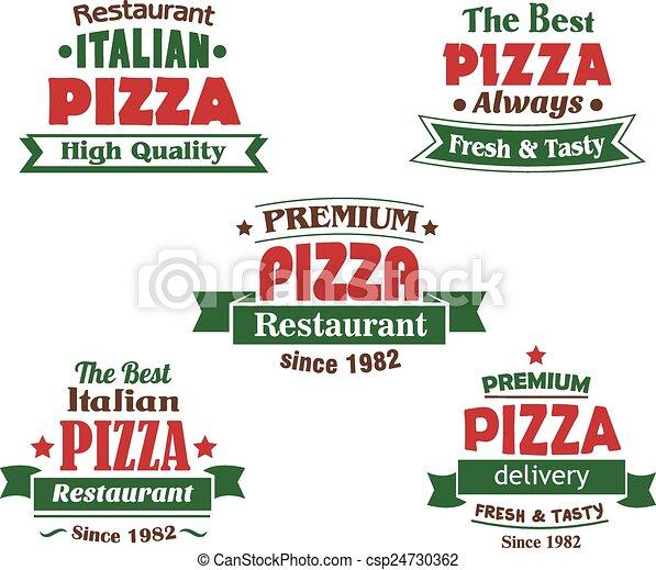 Italian Restaurant Logo Clipart Italian Pizza Restaurant Logo